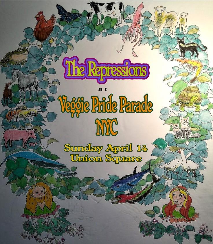 Veggie Pride Wreath Poster